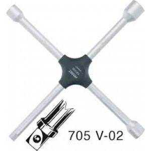 Ключ баллонный крестовый, HAZET, 705V-02