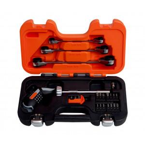 Набор ключей с трещоткой 25ед, Bahco, 808050P-25