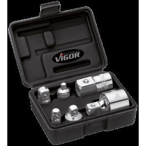 комп адаптеров, 6 шт в пластиковом кейсе, VIGOR, V...