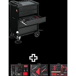 Тележка для инструментов и комп BLACK EDITION 164е...
