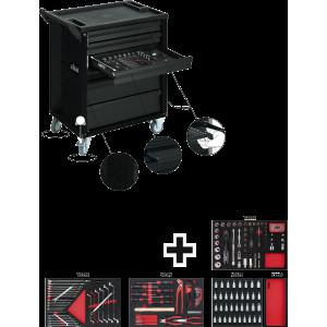 Тележка для инструментов с компом Black Edition II...